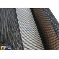 Quality 4x4MM PTFE Coated Fiberglass Mesh Fabric 17OZ Black Drying Textile Conveyor Belt wholesale