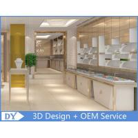 Cheap OEM White  Jewellery Showroom Counter Designs With Led Light for sale