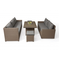 Quality Lightweight Cafe Outdoor PE Rattan Table Chairs wholesale