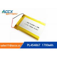 Quality 3.7V 1700mAh 454867 pl454867 lithium polymer battery li-ion rechargeable battery for digital products wholesale