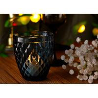 Quality Mouth Blown Glass Candle Holders For Wedding , Candle Glass Containers wholesale