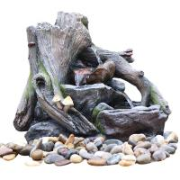 Buy cheap OEM Acceptable Rock Water Fountains In Fiberglass / Resin Material from wholesalers