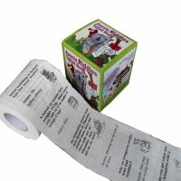 Quality continuous roll to roll printing  2ply  250 sheets 100% virgin pulp printed toilet paper wholesale