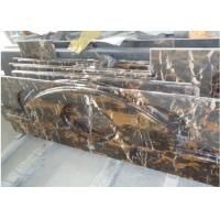 Quality Gold Black Portoro Marble Slab , Marble Slab For Kitchen / Bath Worktop wholesale