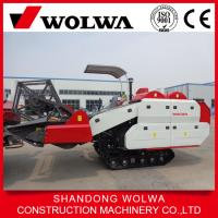 Quality double roller rice combine harvester w4sd-2.0d with big grain tank wholesale