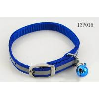 China Blue Fashion Webbing Rope Dog Leash With Small Bell And Buckle 3cm Width on sale