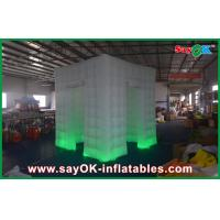 China White Curtain Lighting Inflatable Photo Booth 210D Oxford Cloth on sale