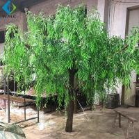 China Dense Faux Weeping Willow , Green Willow Tree For Greenery Landscape on sale