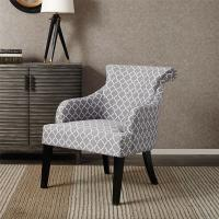 Rollback Decorative Floral Accent Chair Sitting Room With Solid Wood Legs