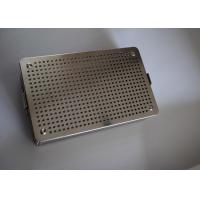 Buy cheap 34x25x6cm Perforated Metal Wire Basket Surgical Instrument Storage from wholesalers