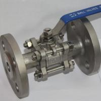 Quality 3PC 1000WOG SS304 / SS316 Stainless Steel Ball Valve Industrial Flange End AMSE 300LB wholesale