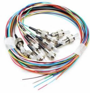 Quality G652 G657 Fiber Optic Pigtail Simplex 9 / 125 Single Mode PVC LSZH Jacket wholesale
