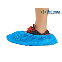 China Blue Disposable CPE/PE 1.2g Plastic Shoes Cover Waterproof on sale