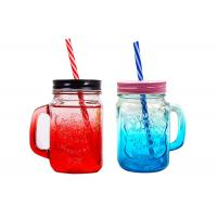 Quality 480ml Juice Empty Glass Containers Screw Metal Lid Eco - Friendly wholesale
