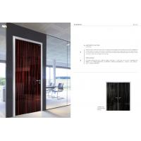 Quality Aluminum frame Customized Commerical Black Color Office Room Door Factory wholesale