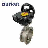 China Good Price High Quality Wafer stainless steel 8 inch worm manual butterfly valve Ductile on sale