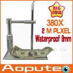 Quality 380x 8LED HD 2MP USB microscope Aopute Digital Microscope usb magnifier Camera Metal Stand Base pcb inspection camera wholesale