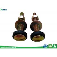 Quality Toilet Accessories Toilet Tank to Bowl Bolts Set Of Two In Steel Brass Plated wholesale