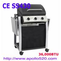 Cheap 3 Burner Gas Barbecue with foldable side shelf for sale