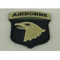 Quality Air Borne Custom Embroidered Patch Cotton Printed Sew On Patches wholesale
