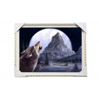Quality CMYK 3D Wolves Image Lenticular 3d Pictures PS Frame For Office Decoration wholesale