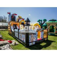 Quality Commercial Kingdom Pirates Slide Inflatable Blow Up Obstacle Course With Bouncer wholesale