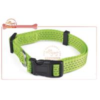 Quality OEM / ODM Multi Colors Adjustable Nylon Dog Collar With Nameplate wholesale