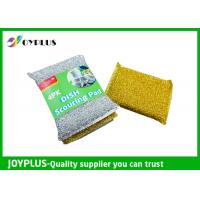 Quality High Density Kitchen Nylon Sponge Scrubber , Dish Washing Scrub Pads 4 Pack wholesale