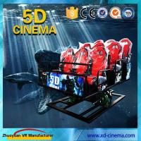 Quality 6 DOF Snow Virtual Reality 5D Cinema Equipment  With Hydraulic / Electric Platform wholesale
