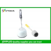 Quality Simply Design White Plastic Toilet Brush And Holder Multi Purpose HT1020 wholesale