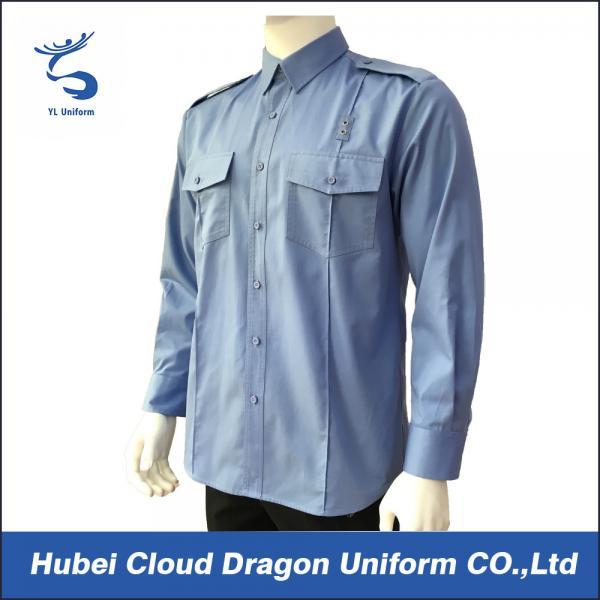 Cheap Security Guard Police Uniform Shirt Work Shirts Long