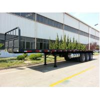 Quality 40ft 60 tons cargo ship 3 axles Log flat bed trailer log loader trailer  | CIMC TRAILERS wholesale