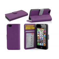 Quality 3 slot Wallet Cell Phone case, Iphone 5C iPhone 5mini PU Leather cases wholesale