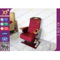 China Antique Golden Paint Veneer Theatre Seating Chairs With Solid Wood Armrest / Cup holder on sale