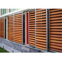 Quality External Aluminium Louvres , Aluminium Shade Screens With Artificial Solid Surface wholesale