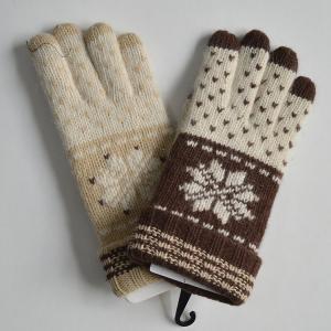 Quality New Design Ladies Fashion Black Winter Warm Woolen Knitted Gloves wholesale