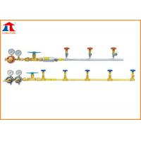 Quality Oxygen And Fuel Gas Single-side Gas Cylinder Manifold For Gas Cutting Machine wholesale