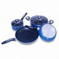 China 6-piece Aluminum Alloy Cookware Set with Induction Bottom, Includes Stock Pot, Saucepan, Frying Pan on sale
