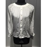Quality Casual White Crew Neck Blouse , Women