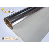 China Good Quality Aluminum Foil Coated Cloth Laminated Roll Fireproof Fiberglass Fabric on sale