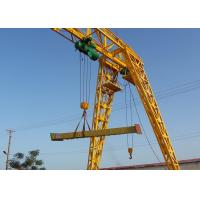 China Electric Travelling Single Girder Gantry Crane with Truss Type / Box Type Available on sale