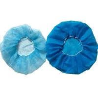 China Non Woven Fabric Disposable Head Cap For Clinic , Food Industrial on sale