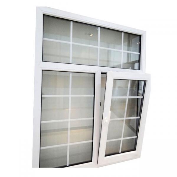 Cheap PVC Windows Grill Design Double Glazed Glass Energy Saving Profile for sale