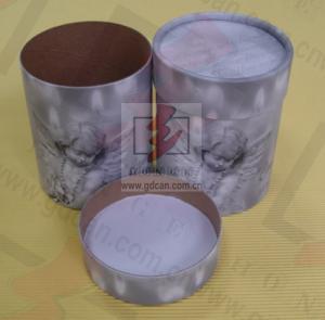 Sealing Cylinder Food Packaging Tubes Cardboard Gift Box Soy Ink Print