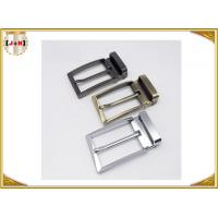 Cheap Zinc Alloy Reversible Metal Belt Buckle For Business Man Die Casting Plating for sale