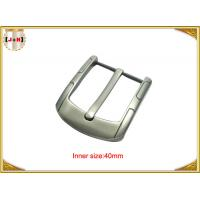 Quality Simple Custom Gunmetal Plating Metal Belt Buckle for Men 40MM Pin Style wholesale