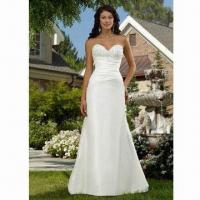Quality Lace Bridal/Wedding Gown, Spaghetti Strap Style, with Satin Fabric wholesale