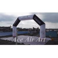 Cheap customize 20 feet angle start/finish inflatable arch with free air blower for for sale