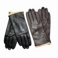Quality Ladies embossed dress gloves, made of leather wholesale
