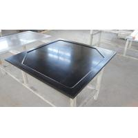 China Black  Epoxy Resin Worktop with Glare Surface and Marine Edge on sale